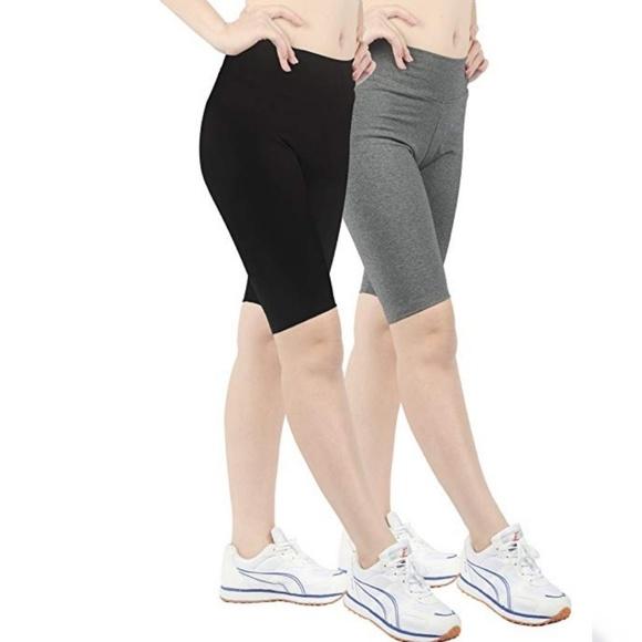 0c743972fd95a1 ILOVESIA Pants | 2 Pack Womens Cotton Short Leggings | Poshmark